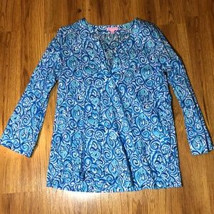 Lilly Pulitzer Blue Tunic